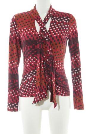 Expresso Camicetta a maniche lunghe rosso scuro-bordeaux stile stravagante