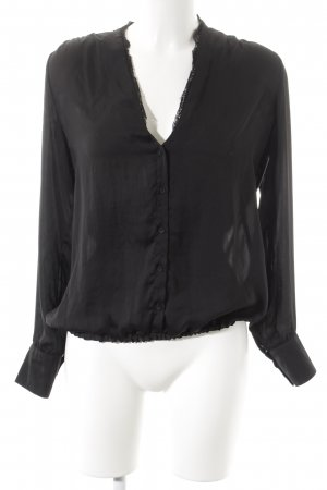 Expresso Long Sleeve Blouse black casual look