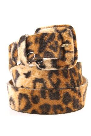 Expresso Lederen riem bruin-zwart luipaardprint extravagante stijl