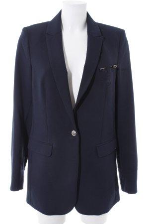 Expresso Lange blazer donkerblauw zakelijke stijl