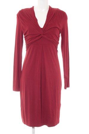 Expresso Midi-jurk donkerrood elegant