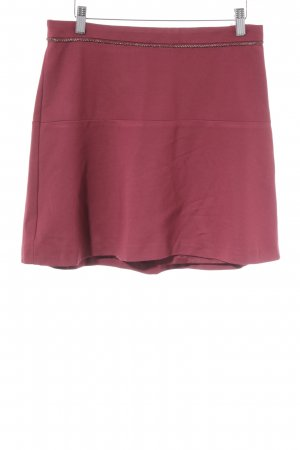 Expresso Minigonna rosso mattone stile casual