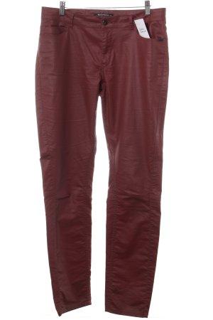 Expresso Pantalone a sigaretta marrone-rosso stile casual