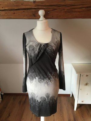 Expresso schwarz weiß grau L 40 42 strickkleid Kleid