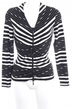 Expresso Shirt Jacket black-white abstract pattern casual look