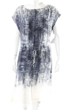 Expresso Shirtkleid dunkelblau-creme abstraktes Muster schlichter Stil