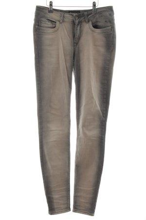 Expresso Skinny Jeans hellgrau-wollweiß Street-Fashion-Look