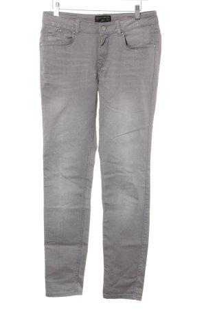 Expresso Skinny Jeans grau-silberfarben Glitzer-Optik