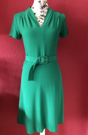 Expresso smaragdgrünes Kleid mit Gürtel