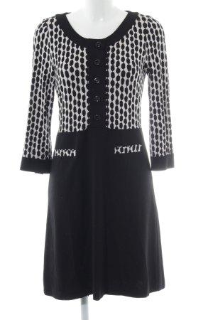 Expresso Stretchkleid schwarz-weiß abstraktes Muster Casual-Look