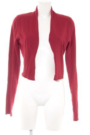Expresso Bolero lavorato a maglia rosso scuro stile casual