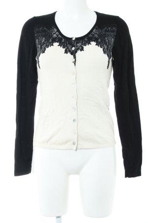 Expresso Strickjacke schwarz-weiß Casual-Look