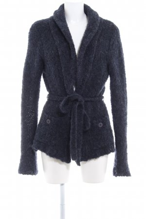 Expresso Giacca in maglia blu scuro Motivo a maglia leggera stile semplice