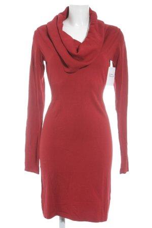 Expresso Gebreide jurk rood casual uitstraling