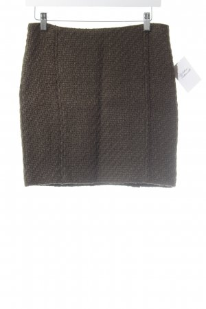 Expresso Knitted Skirt olive green classic style
