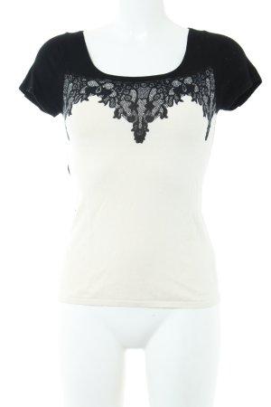 Expresso Strickshirt schwarz-weiß Business-Look