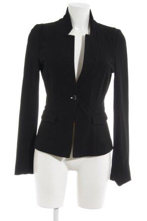 Expresso Blazer de tela de sudadera negro estilo «business»