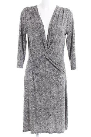 Expresso Vestido de tela de sudadera negro-gris estampado de animales