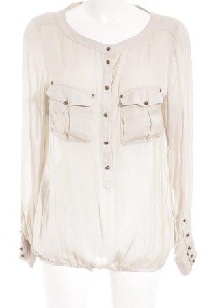 Expresso Blusa trasparente crema-beige chiaro stile professionale