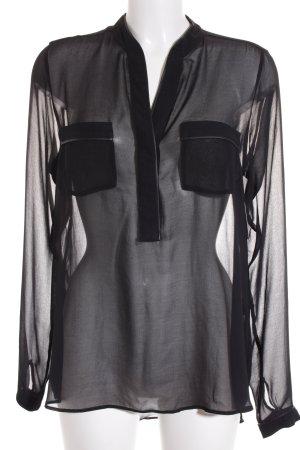 Expresso Transparenz-Bluse schwarz Elegant