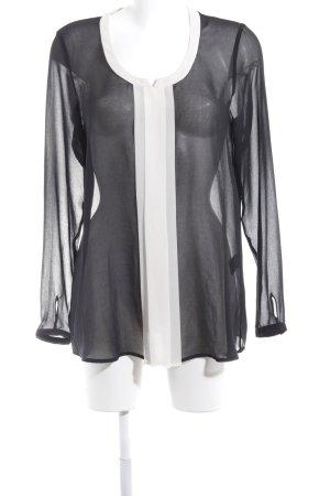 Expresso Transparenz-Bluse schwarz-weiß Casual-Look