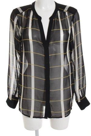 Expresso Transparante blouse gestreept patroon elegant