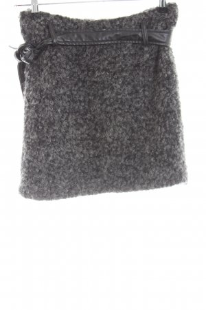 Expresso Wool Skirt light grey flecked casual look