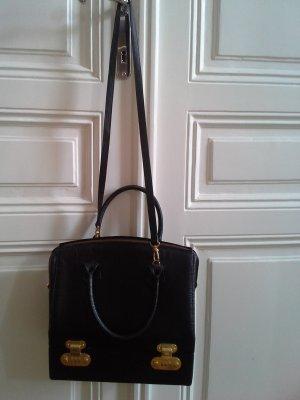 exquisite Fendi Reise-Schmuck-Tasche, schwarzes Leder