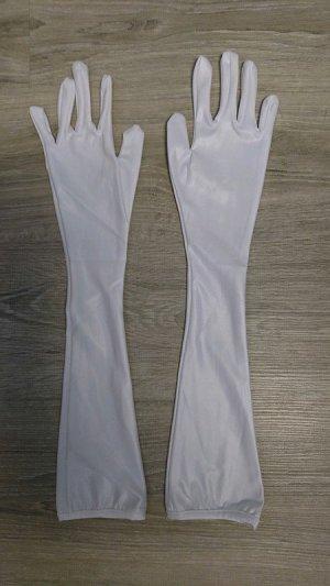 Guanto da sera bianco Tessuto misto