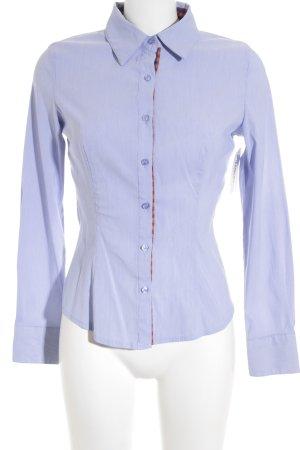 extra me Langarm-Bluse himmelblau-weiß Business-Look