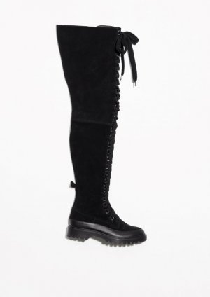 & other stories Overknees black suede