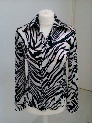 Extravagante Bluse im Zebramuster