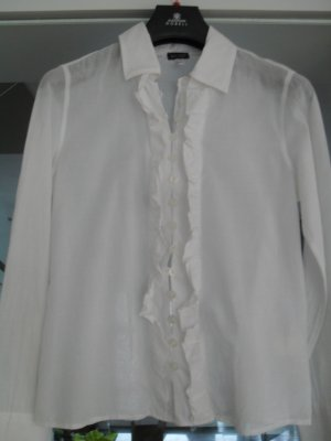 Armani Jeans Blouse à volants blanc coton