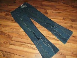 Extravagante Designer Jeans Strenesse blau *neu* Gr. 27 Gabrielle Strehle