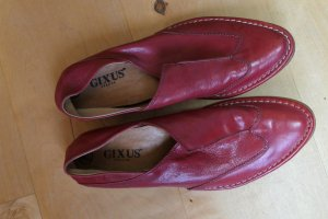 Gixus Slippers carmine leather