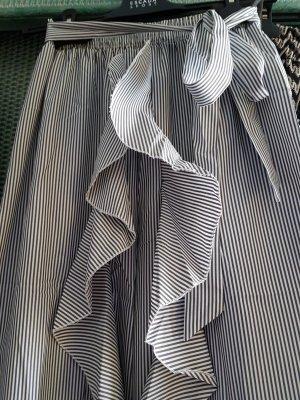 Polo Ralph Lauren Pantalone a vita alta bianco-grigio ardesia Viscosa