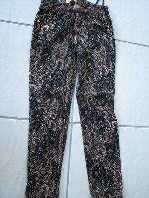 Biba Pantalone nero-color cammello