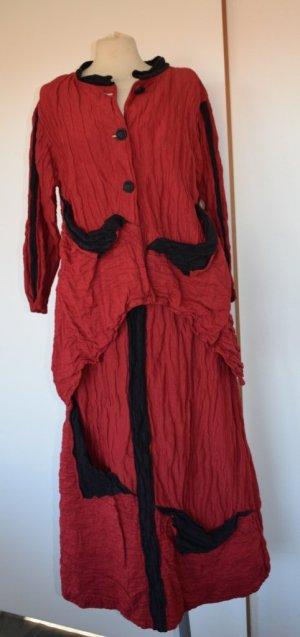 Ono Koon Balloon Dress red-black