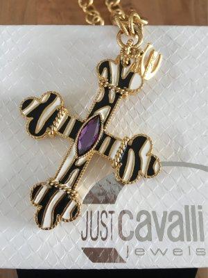 Extravagante lange Kette mit außergewöhnlichem Kreuz