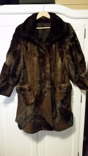 Pelt Coat brown-bronze-colored pelt