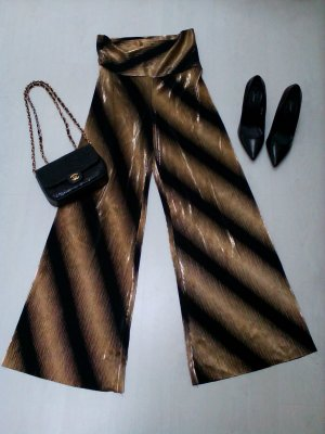 Marlene Trousers black-gold-colored