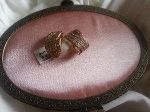 Extravagante Ohrringe  ***Neu mit Etikett 925er Gold besetzt