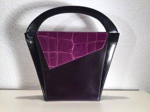 Borsetta nero-viola scuro Pelle