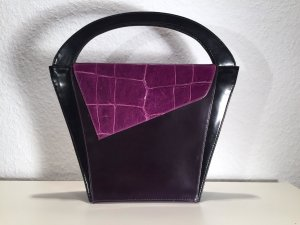 "Extravagante ""Patterson"" Handtasche 80er - 80ies Vintage Leder"