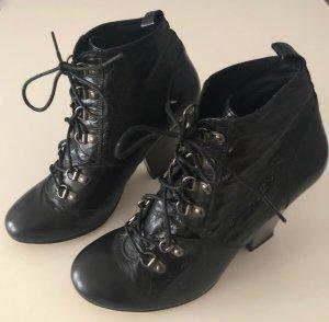 Asos Bottines à lacets noir
