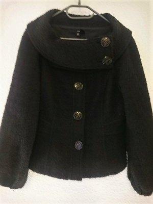 Zara Veste courte noir-bronze