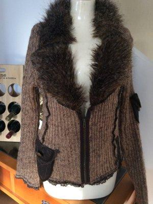 Biba Coarse Knitted Jacket multicolored wool