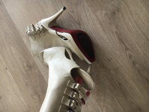 extravagante Stiefeletten Sommer Pumps Heels rote Sohle 39 40