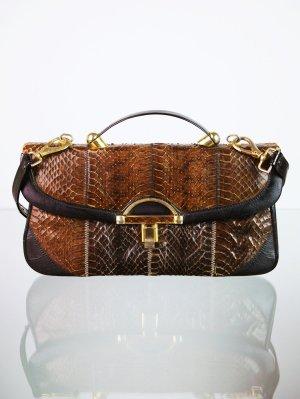 Handbag brown-black brown leather