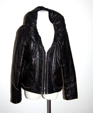 extravagante Winterjacke in schwarz von Alexo - Gr. L